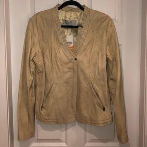 🆕 DANIER Leather BLINK NEW Jacket XL Bone Beauty
